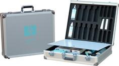 D 040 valigia con sportello separatore per campionario prodotti linea corpo